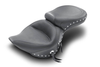 Mustang  One-Piece Wide Super Touring Seat  for Softail FXST '06-17 & Fat Boy FLSTF '07-17 w/ 200mm Wide Tire-Studded
