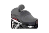 Drag Specialties Low-Profile Touring Seat w/ Dual Backrest Capability for '04-Up XL -Mild Stitch (Shown with Optional Backrest)