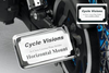 Cycle Visions In Close License Plate Holder for '08-11 FXST/FLST -Black Powder-Coat, Horizontal with Plate Light