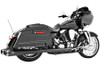 Freedom Performance Exhaust American Outlaw Dual System for '86-08 FLH/FLT -Black