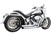 Freedom Performance Exhaust Declaration Turn Out for '86-17 Harley Davidson Softail Chrome