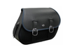 Boss Bags Close Fitting  #37 Model Plain (Shown with Blue Trim) for Softail Models