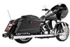 Freedom Performance Exhaust American Outlaw Dual System for '09-16 FLH/FLT -Chrome w/ Black Tip