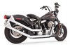 Freedom Performance Exhaust Upsweeps w/ Sharktail End Cap for '86-17 Softail -Chrome