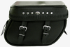 Boss Bags Close Fitting#40 Model  Italian Style w/ a Braided Lid Valence for Softail Models