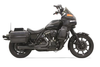 Bassani Exhaust Road Rage 2-Into-1 System for '84-94, '99-00 FXR with Floorboards -Black, Short Megaphone
