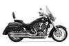 Bassani Pro Street Exhaust for Victory Vegas 8-Ball, Kingpin, Kingpin 8-Ball & Highball '02-05 -Black w/ Black Fluted End Cap (Shown in Chrome)