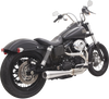 Bassani Road Rage III 2-into-1 Exhaust for '91-17 Harley Davidson Dyna Models - Stainless