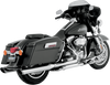 Vance & Hines Twin Slash Rounds for '95-16 Harley-Davidson FL Models - Chrome