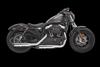 "Bassani 3"" Billet Slip On Mufflers for '14-up Sportster Models Chrome w/ Black Slash Cut End Cap"
