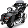 Cobra Race Pro 4-inch Slip-On Mufflers  for '17-Up Harley Davidson Touring Models -Chrome