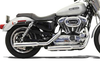 Bassani Firepower Series Slip-On Mufflers for '04-13 XL Models -Grooved Polished
