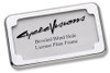 Cycle Visions Beveled License Plate Frame with Plate Lights
