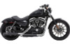 Cobra 3 inch Slip-On Mufflers w/ Racepro Tips for '07-17 FLSTN Deluxe, '08-11 FLSTSB Cross Bones  '16-Up Fatboy S FLSTFBS, '16-Up Softail Slim FLS/FLSS  -Black