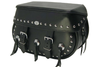 Boss Bags #34 Model  Studded on Body and Lid w/ Three Conchos on Body  for Harley Models