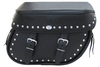 Boss Bags Close Fitting #40 Model Studded on Bag Body and Lid Valence for '14 Indian Models