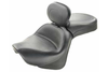 Mustang Two-Piece Wide Touring Seat with Driver Backrest