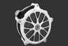 Performance Machine Heathen Faceplate for Super Gas Air Cleaners -Platinum Cut