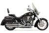 Bassani Pro Street Exhaust for Victory Vegas 8-Ball, Kingpin, Kingpin 8-Ball & Highball '02-05 -Black Slash-Cut (Shown in Chrome)