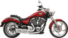 Bassani Pro Street Exhaust for Victory Vegas, Kingpin, Judge, Highball, Gunner, Boardwalk '06-15 - Chrome Turn-Out