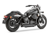 Vance & Hines  Shortshots Staggered Exhaust for Aero 750 '04-09 & Phantom '10-Up & Spirit 750C2 '07-09 -Black