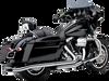 Cobra Center Pro Slip On Mufflers for '09-16 Harley Davidson Touring Models