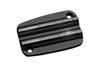 Covingtons Brake Master Cylinder Covers for '08-Up FL Models & H-D FL Trike -Black Diamond Edge