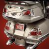 Show Chrome Chrome Saddlebag Molding Inserts for GL1800 '01-10 Saddlebag Molding Inserts (4 Piece)