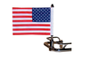 "PPI Pro Pad Saddlebag Bar Flag Mount w/ 6"" x 9"" Flag -9"" Pole"