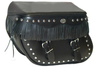 Boss Bags Close Fitting #40 Model Studded Body and Lid w/ Fringed Lid Valence for '14 Indian Models