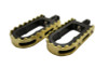 L.A. Choppers BMX Footpegs for H-D  models  (Will not fit 13-16 FXSB/SE, 11-13 FXS, 08-11 FXCW/C, 13-16 XL1200V/XL1200X/XL1200C models.) -Black/Brass