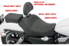 Drag Specialties Solo Front Seat for '04-Up XL  -Smooth (Solo Seat Only)
