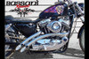 Bassani Radial Sweepers for '86-03 Harley Davidson Sportster Models - Chrome NOT FOR USE WITH PASSENGER FOOTPEGS