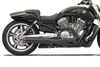 Bassani Road Rage II B1 Power Systems for  '07-15 VRSCAW/VRSCDX/VRSCX &  '09-15 VRSCF -Black w/ Black Billet End Cap w/ Machined Contrasting and Black Heat Shields