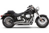 Cobra Speedster Short Swept Exhaust for Softail '12-17  -Chrome