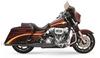 Bassani Exhaust 2-Into-1 Headers w/ Megaphone Mufflers for '10-16 FL Models -Black with Chrome Cap