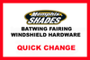 Memphis  Shades  Batwing Windshield Mounting Kit for Stratoliner/Roadliner  '06-Up-Polished  FAIRING AND WINDSHIELD NOT INCLUDED
