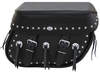 Boss Bags Close Fitting #40 Model Studded on Lid & Bag Body  w/ Conchos on Body for Softail Models