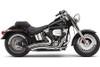 Cobra Speedster Short Swept Exhaust for Softail '07-11 Chrome
