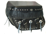 Boss Bags Close Fitting #40 Model Studded with Conchos and Fringe on Lid Valence -for Softail Models