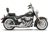 Bassani Road Rage 2-Into-1 System for '86-11 FXST/FLST (Except '09 FXSTSSE) Chrome, Short Megaphone w/ Heat Shields