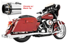 Freedom Performance Exhaust 4.5 inch American Outlaw Slip-Ons for '95-16 FLH/FLT -Chrome w/ Black Tip
