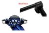 """Klock Werks Klip Hanger 10""""  Handlebars for '96-13 FLHT/FLHX, Trikes & other custom applications w/ """"Batwing"""" Fairing -Black/black"""