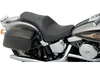 Drag Specialties One Piece Solo Style Seat w/ Driver Backrest Option for '84-99 FXST, FLST -Smooth