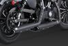 Vance & Hines Twin Slash 3 inch Slip On Muffler for '14-Up Sportsters - Black