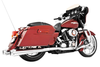 Freedom Performance Exhaust 4.5 inch American Outlaw Slip-Ons for '95-16 FLH/FLT -Chrome