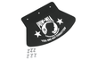 Drag Specialties POW-MIA Rubber Mud Flap -Large (Each)