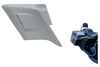 Paul Yaffes Bagger Nation Swoop Side Covers for '97-08 FL Models w/ OEM Extended Saddlebags -Scooped, Pair