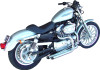 Bassani Pro Street Systems for '07-13 Harley Davidson Sportster w/ Forward Controls Slash-Cut Chrome Order heat shields Part# 1861-0394