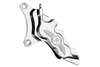 """Performance Machine Six-Piston Front Calipers for Certain H-D Models Starting in '84 for use with 13"""" Rotors (112 x 6B calipers) -Chrome, Left Caliper"""